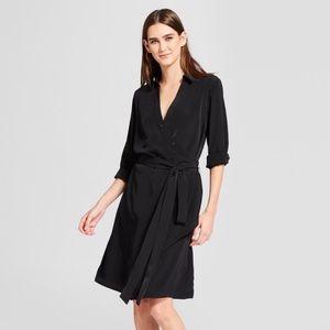 Mossimo Drapey Faux Wrap Button Up Dress